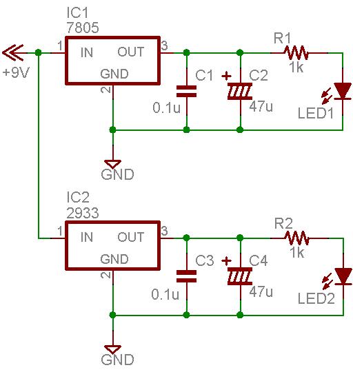 3端子レギュレータの回路記号