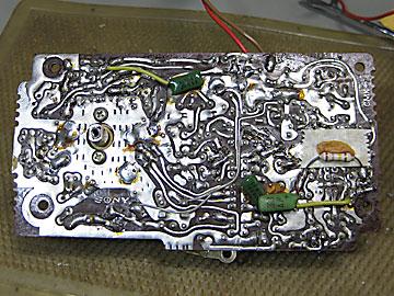 SONY CF-1450の2SC710トランジスタ