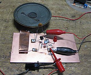 2石でスピーカの鳴るモールス練習機