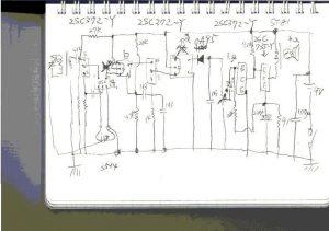4石スーパーラジオ回路図