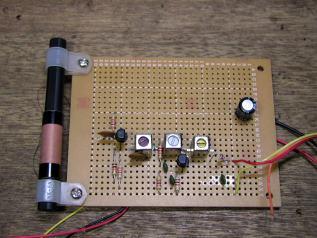 高周波回路(基板上から)