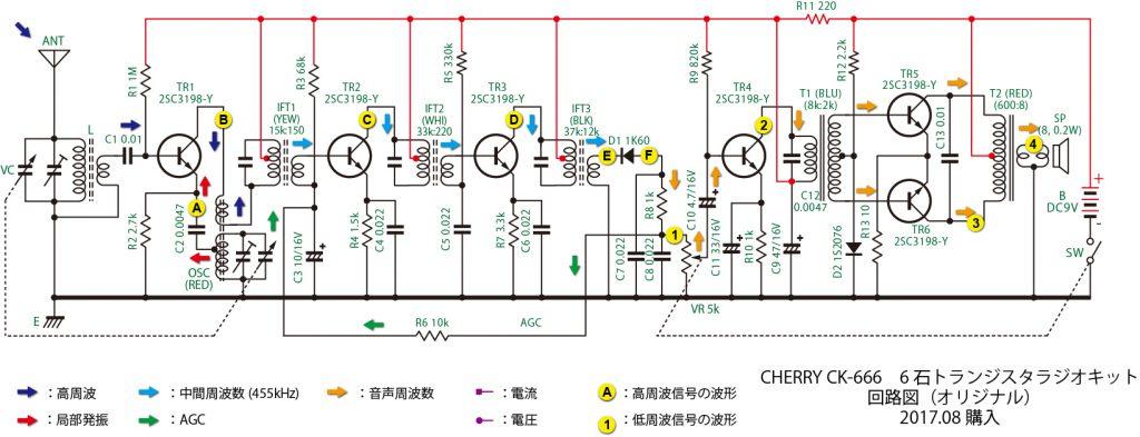 CHERRY CK-666回路図(オリジナル 2017年購入)