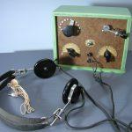 鉱石ラジオとレシーバー
