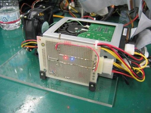 HDDアクセスランプ回路自作