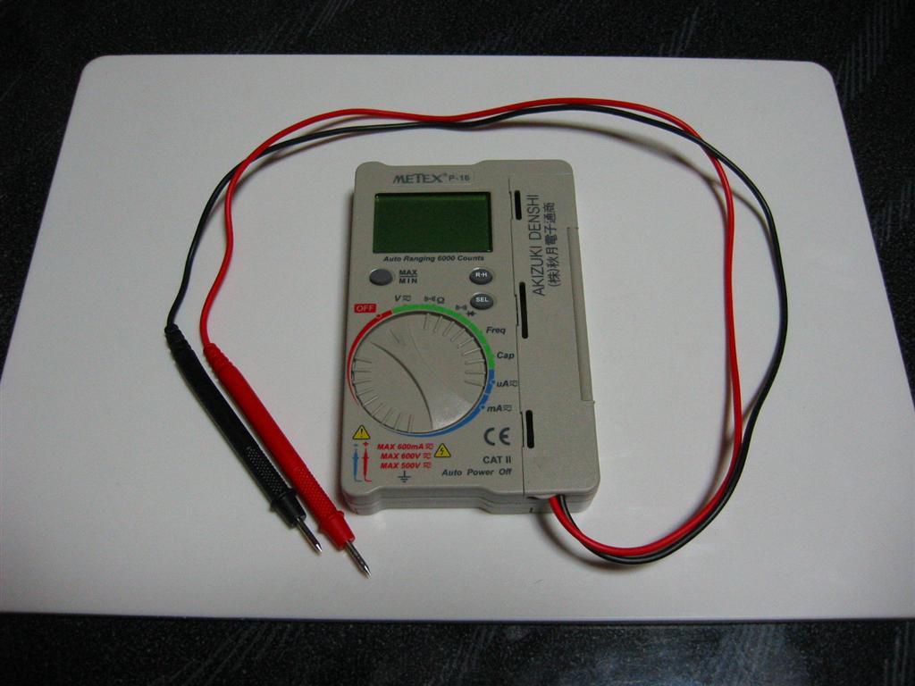 テスターです。回路の導通確認や抵抗値の測定など、様々な場面で活躍します。