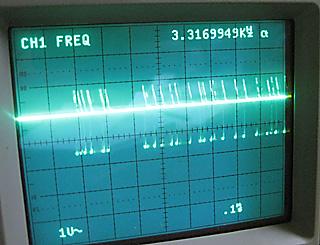 モールス練習機の波形