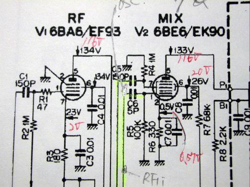 9R-59DS RF, MIX回路