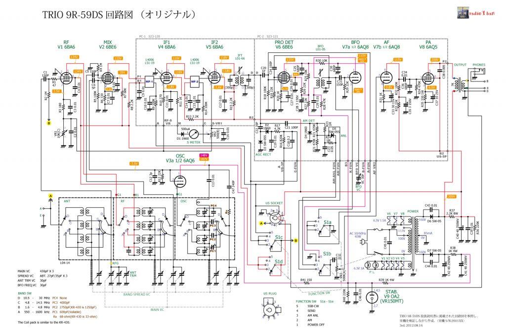 TRIO 9R-59D(S) 回路図